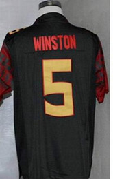 Wholesale College Football Games - Factory Outlet- 2014 BCS Championship Game Jersey,Florida State Seminoles (FSU) #5 Jameis Winston,Embroidery logos,NCAA College Football Jer