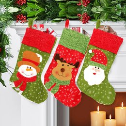 Wholesale Christmas Stockings Wholesale Prices - Wholesale-Best Price Best Promotion Christmas Santa Sack Candy Stocking Gift Father XMAS Present Filler Sock Hang