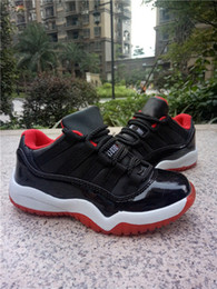 Wholesale Shoes Online Cheap Price - Bred Retro 11 Kids Shoes Boys Girls New Hot Sale Basketball Shoes Sneakers Online With Cheap Price Box Fast Delivery