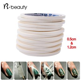 Wholesale Tape Nail Art Designs - Wholesale- 2pcs Nail Art Adhesive Tape 0.5cm&1.2cm17m Creative Design Nail Stickers,Strong Sticky Glue for DIY Nail Gel Polish Tools