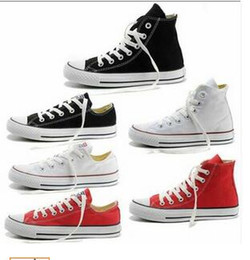 Wholesale lady star toe - 017 Unisex Classic Canvas High Top Style Sport Young Men & Ladies Shoes All fashion Star Athletic casual shoe Strong Quality dorp shipping