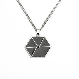 Wholesale Exo Chain - Wholesale- Ocean korean stars fashion EXO pendants Cord Fan necklace for boy and girls love necklace femme new fashion XIUMIN Fans Gift