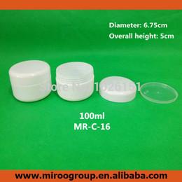 Wholesale- Free Shipping 40PCS 100ml 100g round white plastic cosmetic jars,empty cosmetic cream jar 100g, plastic jars cosmetic containers от Поставщики перерабатываемый картон