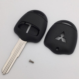 Wholesale Mitsubishi Car Remote Covers - High quality 2 buttons car remote key case replacement key cover for Mitsubishi Lancer Grandis blank key shell with left blade 20pcs lot