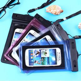 Canada 5,5 pouces étui de protection de sac de brassard imperméable universel pour iPhone sous l'eau raccrocher / étui de bande de téléphone intelligent pochette Offre