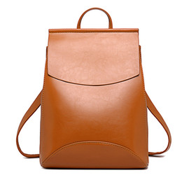 Wholesale Shoulder Bagpack - Fashion Women Backpack High Quality Youth Leather Backpacks for Teenage Girls Female School Shoulder Bag Bagpack mochila
