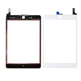 Wholesale Mini Ipad Touch Screen Replacement - 30PCS 100% New Touch Screen Glass Panel with Digitizer Replacement for iPad Mini 4 Black and White free DHL