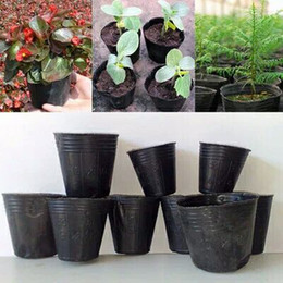 Wholesale chinese planting pot - 400 pcs 10x10cm Nursery Pots Seedling-raising Pan Feeding Block Nutrition Pan Garden Supplies Free shipping Multi Size