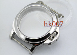 Wholesale Metal Wristwatch - P9 Neiton PAM 44mm Stainless Steel Wristwatch Case Glass Kit ETA6497 6498 St36 Series Movement Watch Case