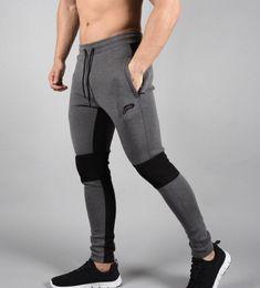 Wholesale thick sweatpants - Mens Thick Pants Bodyboulding Hip Hop Clothing Street Patchwork Trousers Fitness Jogger Sweatpants Casual Slim Fit Pants