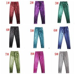 Wholesale Girls Shiny Spandex - cosplay costume Girls Kids Mermaid Cute Pants baby Colorful Digital Printing Child Leggings Pants mermaid fish scale shiny pants 12 color