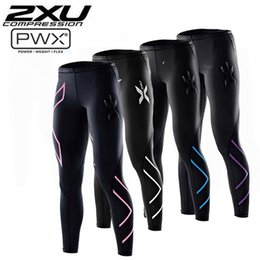Wholesale 2XU men women Running Compression Tights Pants Women Elastic Clothes Tight fitting Sports Trousers Marathon Fitness Jogging Pants