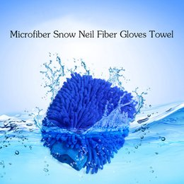 Wholesale Window Cleaning Cloths - Car Hand Soft Cleaning Towel Microfiber Chenille Washing Gloves Coral Fleece Car Sponge Wash Cloth Car Care Cleaning
