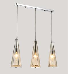 Wholesale Led Dining Table Lights - Modern minimalist LED dining chandelier, three crystal chandelier, glass lighting, bar table, coffee shop, restaurant Chandelier LLFA