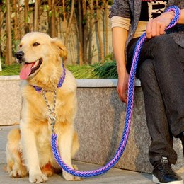 Wholesale Big Dog Leashes - color collar stereotyped rope Large Dog Leashes Pet Traction Rope Collar Set For Big Dogs dog traction nylon rope