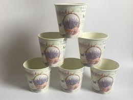 Wholesale Cheap Vases Flowers - Wholesale Cheap D10XH10CM D4*H4inch Round Mini Vase Metal Planter Table centrepieces Lavender Design Flower Planters SF-067