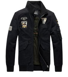 Wholesale Big Breast Size - Spring Autumn Jackets Men Military Coats Outwear Overcoat Embroidery Bomber Jacket Casual Clothes Big Size M-4XL High Quality
