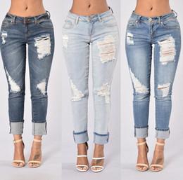 Wholesale Silk Neck Ties Xl - New arrival Bunny Cowboy Cave Jeans Neck Pants Jeans JW015 Women's Jeans