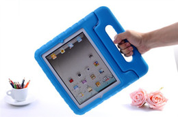 Wholesale Kids Ipad Tablet - For iPad 2 3 4 EVA Foam Shockproof Case For Samsung Tablet Children Kids Handle Stand Protective Cover Drop Resistant