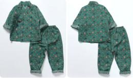Wholesale Kimono Baby Cotton - 2017 new arrivals summer boy home suit, children's hot sales pure cotton suit, children's baby kimono pajamas