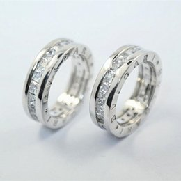 Wholesale Cutting Letter - Luxury Brand original 925 Silver Pricness Cut CZ Letter Ring for Women Wedding