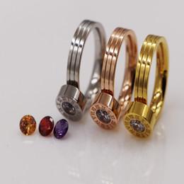 бриллиантовое кольцо Скидка Цена по прейскуранту завода-изготовителя внешней торговли римские цифры четыре Циркон камень обмен кольцо небольшой титана изменение Алмаз кольцо