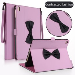 Wholesale Wholesale Bow Tie Bracelet - Bow tie and bracelet silicone sleeping stand Case Cover for ipad mini new ipad 2017 Air1 2 pro9.7