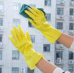 Wholesale Washing Latex Gloves - Wash the dishes Housework gloves Waterproof gloves for washing clothes Household gloves Cleaning Kitchen Tools KKA3442