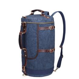 Wholesale Cylinder Leather Bag - Crazy Horse Leather Bucket Bag Handbag bag cylinder shoulder canvas bag