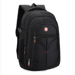 Wholesale Style Laptops - Wholesale- Brand Swiss men laptop backpack computer back bag sac a dos backpacks Travel oxford waterproof 14 15.6 inch bags
