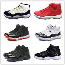 Wholesale Red Shoe Laces 72 - 11 Basketball Shoes 11s 72 10 concord red bred Legend gamma blue space jam 45 XI men women Advanced Quality Version