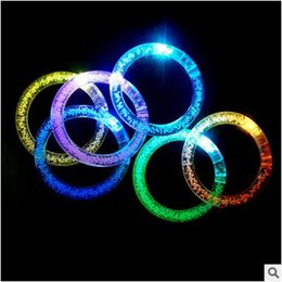 Venda quente LED Piscando Pulseira de Luz para a Festa de Concerto Crianças LED Iluminado Brinquedos de Natal Decorações de Halloween LED Rave Brinquedos de Fornecedores de grinaldas iluminadas por atacado