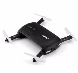Sensor de eje online-Original JJRC H37 6-Axis Gyro ELFIE WIFI FPV 720P HD Cámara RC Quadcopter Plegable G-sensor RC Selfie Drone
