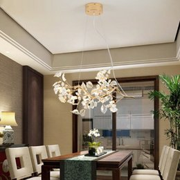 Wholesale Green Table Restaurant - LED restaurant lamp crystal restaurant Pendant Light modern minimalist living room dining room bar dining table Beauty Salon Pendant Lights
