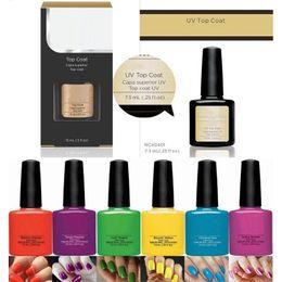 Wholesale new nail lacquer - Nail Gel Polish 79 colors 7.3ml UV Nails Gel Soak Off Gel Polish Nail Lacquer Varnish 100% Brand New Long-lasting Colors 0060MU-10