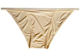 Wholesale Lycra Bulges - 2017 Men's Briefs Comfortable Tanga String Bikini Bulge Pouch Ice Sikly Soft Bikini Underwear Underpants for Men Size M L XL