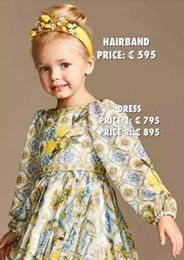 2019 bambini vestono america Bambini Ragazze stampa nazionale vestito a maniche lunghe Europa e America principessa abito di alta qualità all'ingrosso