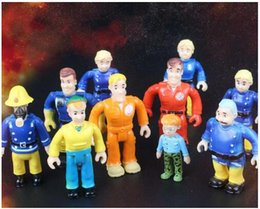 Wholesale Hard Dolls - 10pcs 1set Fireman Sam Action figure blocks For Kids toy Hard PVC plastic smoby sam juton doll