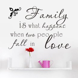 Wholesale Wall Vinyl Family Love - * Family if people fall in love diy quotes wall sticker home decor wedding room living room bedroom vinyl wall decal wallpaper