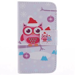 Wholesale Galaxy S Duos Leather - Beautiful Bird Leather Wallet Case for Samsung Galaxy S Duos s7562 Galaxy S Duos 2 S7582 Trend Plus S7580