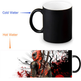 Wholesale Custom Design Homes - Wholesale- Deadpool Custom Made Design Water Coffee Mug Novelty Gift Mugs Morphing Ceramic Cup 12 OZ Office Home Cups