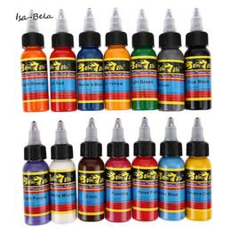 Canada Vente en gros-nouvelle arrivée Solong 30ML / bouteille 14 couleurs longue encre de tatouage kit de pigment rapide encres de tatouage Set Art outils de haute qualité cheap quality ink set tattoo Offre