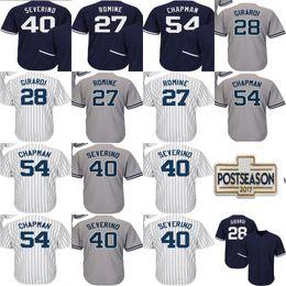 Wholesale Baseball Joe - Mens Womens Kids NY 28 Joe Girardi 40 Luis Severino 54 Aroldis Chapman 27 Austin Romine Cool Flex baseball Jerseys 2017 Postseason Patch
