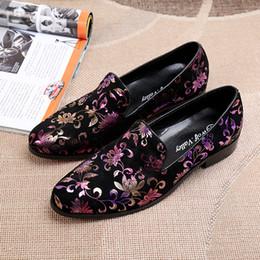 Wholesale Men Shoes Plate - Harpelunde Slip On Men Dress Shoes Black Velvet Loafers With Gold Plate Handmade Flat Shoes