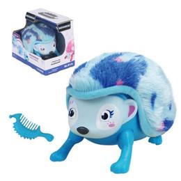Interactive Pets Hedgehog avec multi-modes Éclairage Sons Capteurs Éclairer les yeux Nez Marche Roll Roll Headcup Giggle Kids Jeux électroniques ? partir de fabricateur