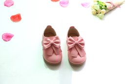 Wholesale Kids Shoes Bows - Casual Children Shoes Candy Color Girls Shoes New Autumn Bow Fahion Baby Girls Sneakers Kids Soft Single Shoes Size 21-30