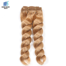 Wholesale Unprocessed Honey - 300g Franch Twist Hair Extensions Honey Blonde Color 27 Brazilian Hair Bundles Natural Black Color Unprocessed Virgin Remy Human Hair Weave
