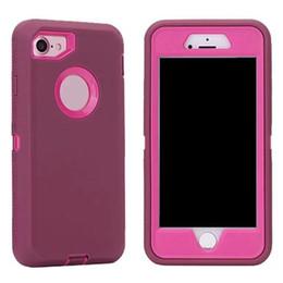 Wholesale Defender Plastic Case For Iphone - Robot Defender case with Belt Clip No Logo for iPhone X 8 7 6s 6 Plus Samsung S8 Plus S7 edge Note 8 Opp Bag