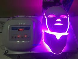 Wholesale Photon Device - 3D vibration massage facial mask 3Color Light Photon LED Electric Facial Mask PDT Skin Rejuvenation Therapy Anti-Aging Acne Clearance Device
