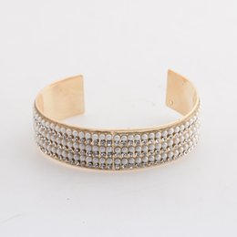 Wholesale Pearl Bangles Designs - 10Pcs New Designs Bracelets & Bangles Silver Gold Plated Pearl Sticker Cuff Bracelet Vintage Bohemia Fashion Jewerly 5 Styles
